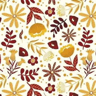 Patrón floral abstracto pintado