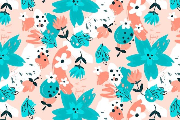 Patrón floral abstracto plano orgánico vector gratuito
