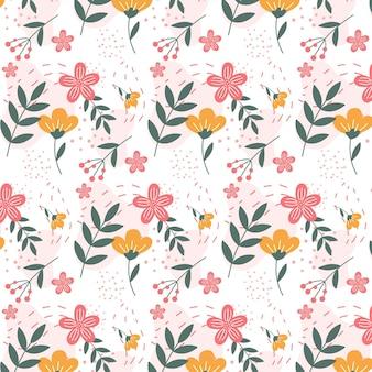 Patrón floral abstracto plano orgánico