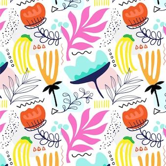 Patrón floral abstracto