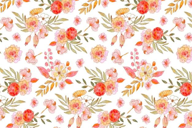 Patrón floral acuarela