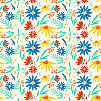 Patrón floral bastante abstracto