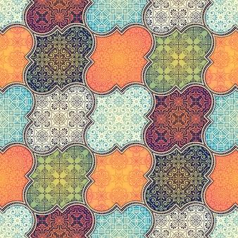 Patrón floral batik