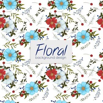 Patrón floral con bayas.