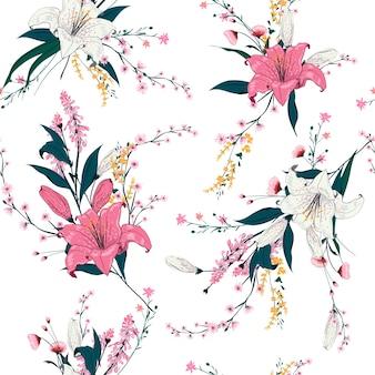 Patrón floral brillante
