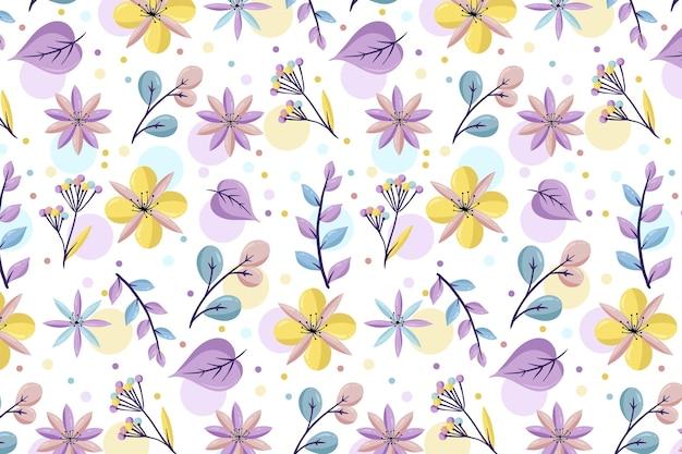Patrón floral con colores pastel.