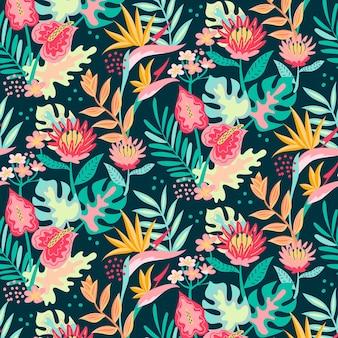 Patrón floral colorido lindo