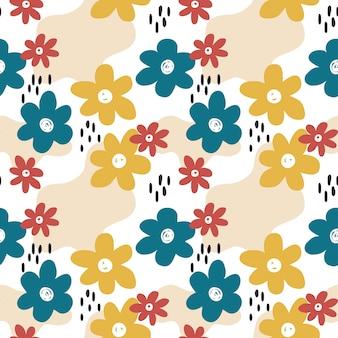 Patrón floral colorido de la primavera