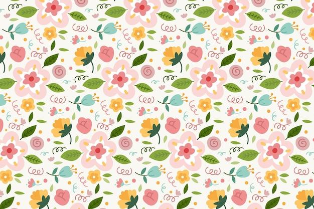 Patrón floral colorido