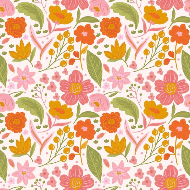 Patrón floral ditsy sin costura de moda