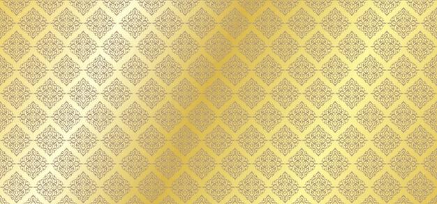 Patrón floral dorado fondo floral ornamental