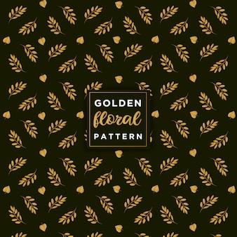 Patrón floral dorado