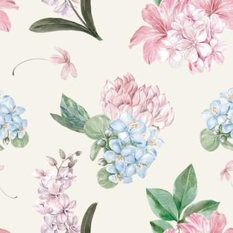 Patrón floral en estilo acuarela.