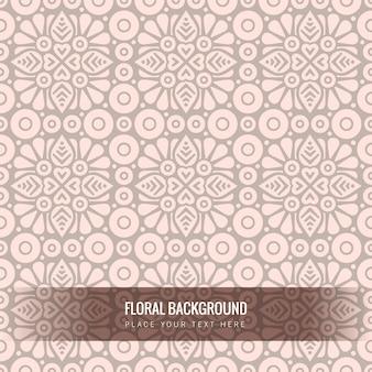Patrón floral étnico sin fisuras