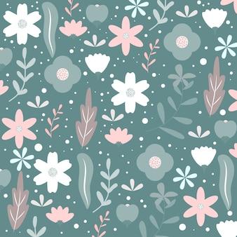 Patrón floral sin fisuras o textura
