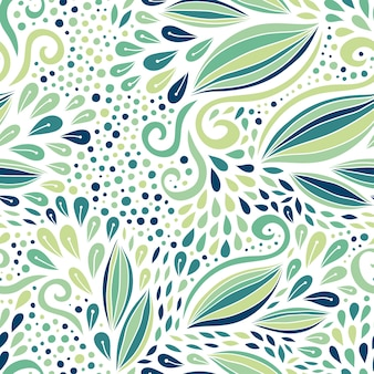 Patrón floral sin fisuras. ornamento moderno verde. vector de textil o diseño de packaging