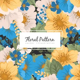 Patrón floral sin fisuras