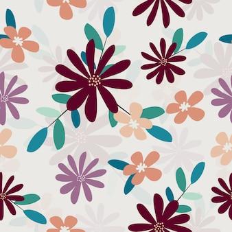 Patrón floral fresco lindo transparente