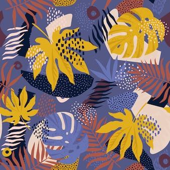 Patrón floral hawaiano en vector