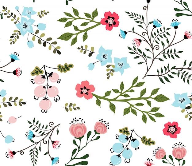 Patrón floral hermoso