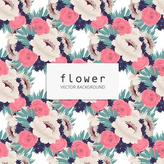 Patrón floral inconsútil de moda