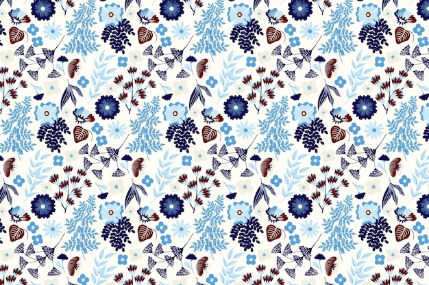 Patrón floral lindo creativo