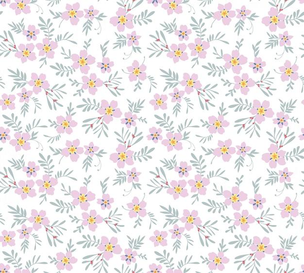 Patrón floral lindo. flores rosadas.