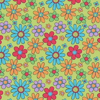 Patrón floral maravilloso dibujado a mano