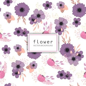 Patrón floral de moda sin fisuras
