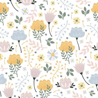 Patrón floral pastel