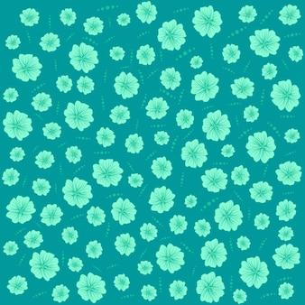 Patrón floral plano