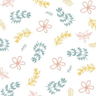 Patrón floral de primavera verano