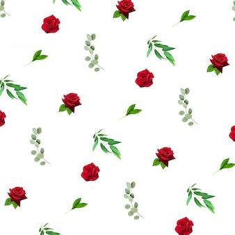 Patrón floral realista