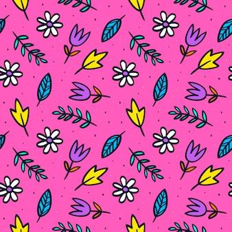 Patrón floral rosa