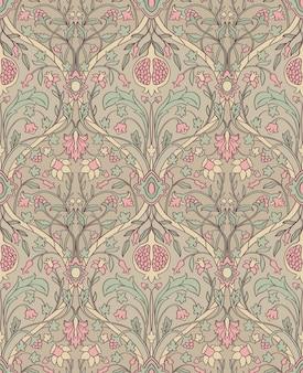 Patrón floral tierno. adorno de filigrana sin costuras.