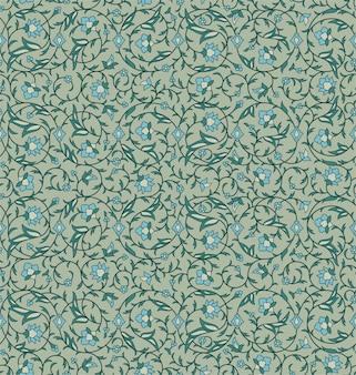 Patrón floral transparente árabe arabesco