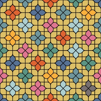 Patrón floral transparente delicado color en estilo oriental