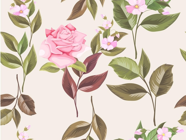 Patrón floral transparente para diseño de moda y papel tapiz
