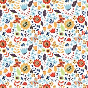 Patrón floral transparente con flores. adorno natural botánico. textura linda