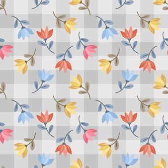 Patrón floral transparente con flores