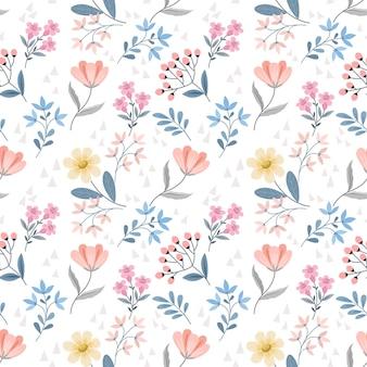 Patrón floral transparente con hermosas flores