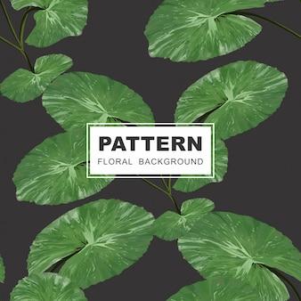 Patrón floral transparente - lirios y hojas