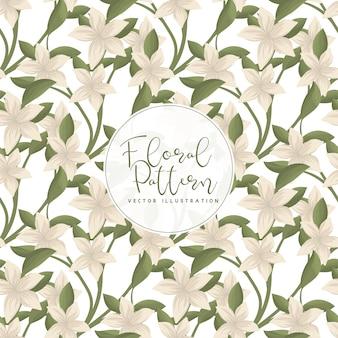 Patrón floral transparente de moda en ilustración vectorial