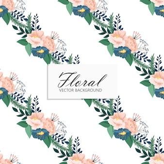 Patrón floral transparente de moda en