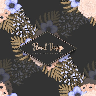 Patrón floral transparente de moda
