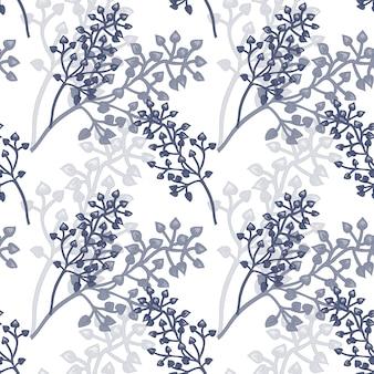 Patrón floral transparente de vector.