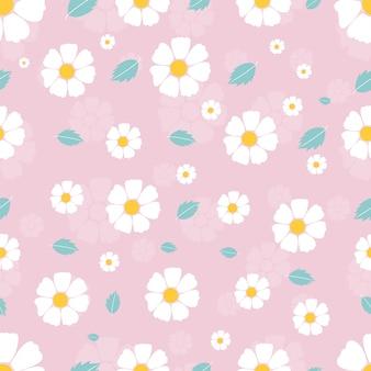 Patrón floral transparente en vector