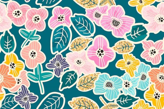 Patrón floral transparente