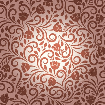 Patrón floral vector transparente. diseño floral, adorno de decoración, planta de textura e ilustración de naturaleza ornamental