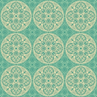 Patrón floral verde